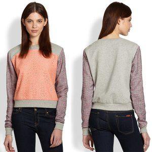 Rebecca Minkoff McCall Mixed Media Sweatshirt